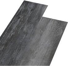 PVC Flooring Planks 4.46 m² 3 mm Self-adhesive Shiny Grey