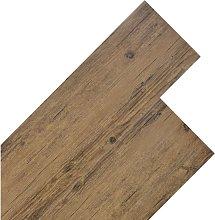 PVC Flooring Planks 5.26 m² 2 mm Walnut Brown