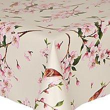 PVC Tablecloth Birds 2.5 Metres Oval (250cm x