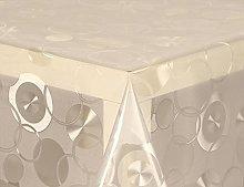 PVC Tablecloth Clear Circles 2 Metres (200cm x