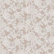 PVC Tablecloth Fleur Lace Taupe 2 Metres (200cm x