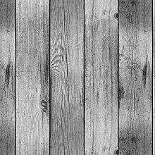 PVC Tablecloth Grey Floor Boards 3 Metres (300cm x