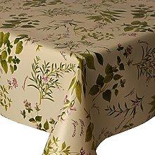 PVC Tablecloth Herb Garden 2 Metres Oval (200cm x