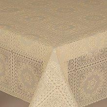 PVC Tablecloth Lace Amelie Cream 2 Metres (200cm x