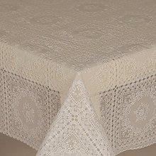 PVC Tablecloth Lace Amelie White 1 Metre (100cm x