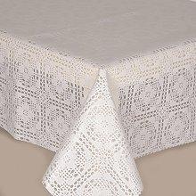 PVC Tablecloth Lace Crochet White 1.5 Metres
