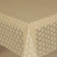 PVC Tablecloth Lace Daisy Cream 2.5 Metres (250cm