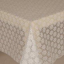 PVC Tablecloth Lace Daisy White 2.5 Metres (250cm