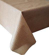 PVC Tablecloth Linen Look Natural 2.5 Metres