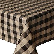 PVC Tablecloth Picnic Black 2 Metres (200cm x