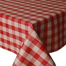 PVC Tablecloth Picnic Red 2 Metres Oval (200cm x