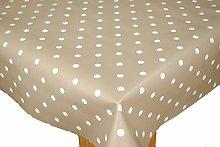 PVC Tablecloth Polka Mink 3 Metres (300cm x