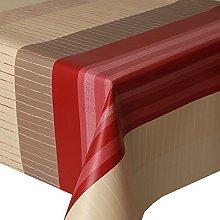 PVC Tablecloth Red Marila Stripe 2 Metres (200cm x