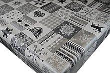 PVC Tablecloth Reindeer Patchwork 3 Metres (300cm