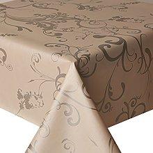 PVC Tablecloth Roma Silver 2.5 Metres (250cm x