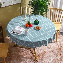 PVC Tablecloth Round for Dining Room Kitchen and