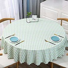 PVC Tablecloth Round Table, Light Green Round