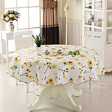 PVC Tablecloth Round Table, Sunflower Round Table
