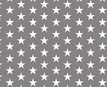 PVC Tablecloth Stars Grey 2.5 Metres (250cm x