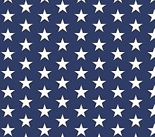 PVC Tablecloth Stars Navy 2 Metres (200cm x