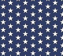 PVC Tablecloth Stars Navy 3.5 Metres (350cm x