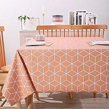 PVC Tablecloths Rectangular Large, Geometric