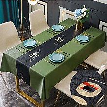 PVC Tablecloths Rectangular Large, Olive Green