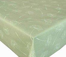 PVC Vinyl Table Cloth Abstract White Dandelion