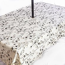 PVC Wipe Clean Garden Tablecloth with Rust Proof