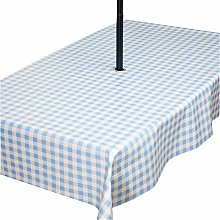 PVC Wipe Clean Garden Tablecloth with Stainless