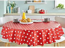 Pvc Wipe Clean Table Cloth 135cm Round in Latte