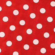 Pvc Wipe Clean Table Cloth 135cm Round in Red Spot