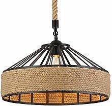 PXY Decorative Lights Light Lamp Round Shape Hemp