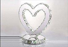 PXY Elegant Heart Shape Modern Chrome Crystal Desk