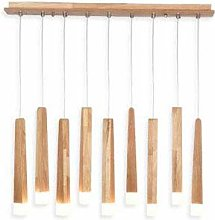 PXY Useful Chandelier Wooden Stick Pendant
