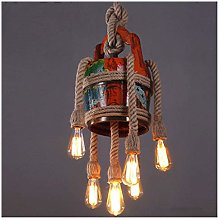PXY Useful Colored Twine Chandelier Vintage