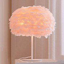 PXY Useful Table Desk Lamp Feather Lamp Pink