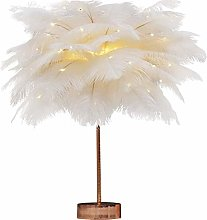 PXY Useful Table Desk Lamp Feather Lamp White