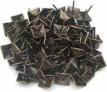 Pxyelec 50pcs Vintage Square Upholstery Nails