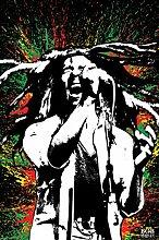 Pyramid America Bob Marley Singing Neon Paint