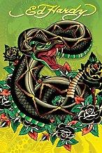 Pyramid America Ed Hardy Snake Tattoo Art Cool