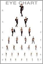 Pyramid America Eye Chart Stripping Model Cool