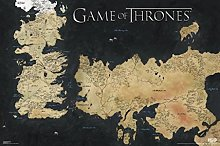 Pyramid America Game of Thrones Map of Westeros