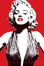 Pyramid America Marilyn Monroe Red Pop Art Lips