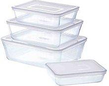 Pyrex 4 Piece Cook And Freeze Storage Set