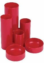 Q-Connect Red Tube Desk Tidy - KF10042