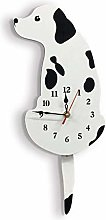 Q-HL Wall Clock Creative Cartoon Dog Acrylic