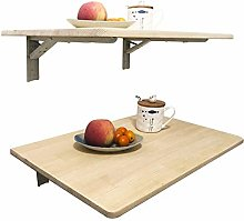 Q&Z Folding Wall Mounted Drop Leaf Table Wooden