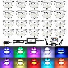 QACA 20x Colour Changing RGB Led Decking Lights
