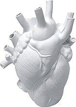 Qagazine Heart Resin Flower Pot Anatomical Heart